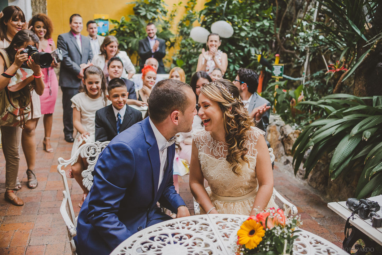 La boda entre semana de Eliana y Andrés Gallo. Fue realizada el día jueves.